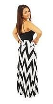 DBG Women's Women's Maxi Full Length Skirts (XS, Black White Chevron) - $25.43