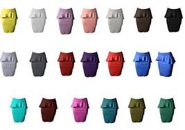 DBG Women's Peplum_High_Waisted_Skirts (5XL, Brown) - $30.37
