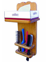 Tissue Holder Brush Holder Bathroom Organizer - $39.95