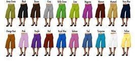 DBG Women's Women's Palazzo Wide Leg Rayon Gaucho Capri Pants (0X, Lime) - $30.37