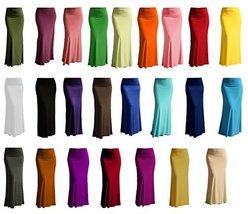 DBG Women's Women's Maxi Full Length Skirts (Extra Large, Blue) - $23.47