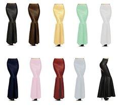 DBG Women's Black Faux Leather Skirts (XL, Mint Green) - $33.27