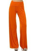 DBG Women's Palazzo Cotton Solid Pants (Small, Orange) - $25.47