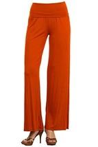 DBG Women's Women's Organic Cotton Palazzo Wide Legged Pants (4xl, Orange) - $49.97
