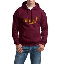 I'm a beater Snitch Quidditch YELLOW ink printed On MAROON hoodie S to 3XL - $31.00+