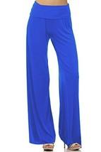 DBG Women's Women's Organic Cotton Palazzo Wide Legged Pants (Small, Royal Blue) - $45.07