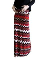 DBG Women's Women's Print Color Maxi Full Length Skirts (Medium, White Black ... - $25.43
