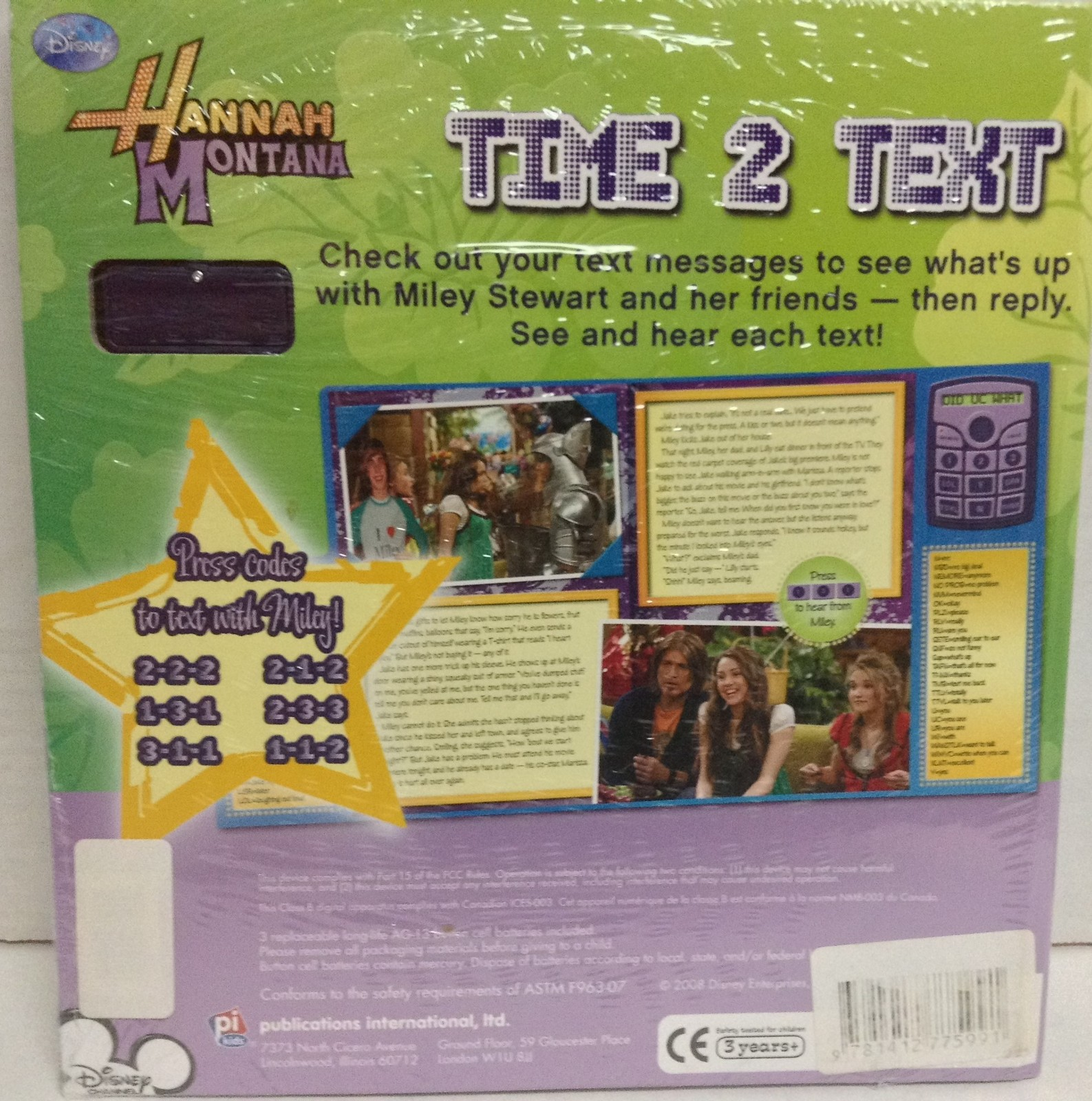 Hannah Montana Disney TIME 2 TEXT Miley NEW in Package