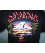 Harley-Davidson Black T-Shirt Large Savannah, Ga - $12.00
