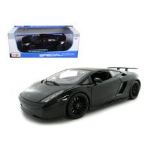 2007 Lamborghini Gallardo Superleggera Black 1/18 Diecast Model Car by M... - $51.59