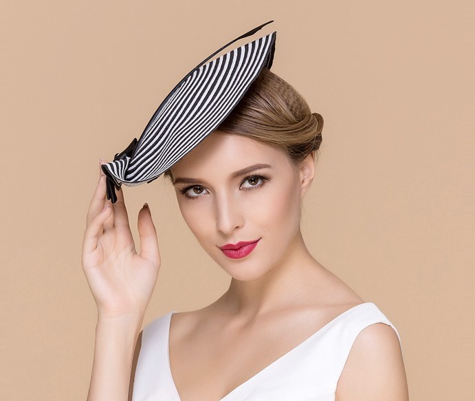 be6f465badf Ppwpart355r0. Ppwpart355r0. Previous. Women Chic Straw Arrow Fascinator  Cocktail Saucer Hat Party Wedding Headpiece