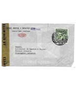 Chile Censored Commercial Cover 1943 DuPont Santiago to US Censor Tape 3... - $94,92 MXN