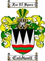 Primary image for Caldwell Family Crest / Coat of Arms JPG or PDF Image Download