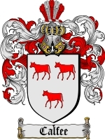 Primary image for Calfee Family Crest / Coat of Arms JPG or PDF Image Download