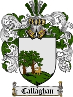 Primary image for Callaghan Family Crest / Coat of Arms JPG or PDF Image Download