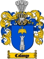 Primary image for Calonge Family Crest / Coat of Arms JPG or PDF Image Download