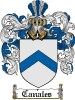 Primary image for Canales Family Crest / Coat of Arms JPG or PDF Image Download