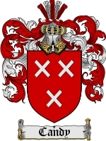 Primary image for Candy Family Crest / Coat of Arms JPG or PDF Image Download