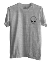 Alien pocket size UFO Geek Men Tee Color Sport Grey - $18.00