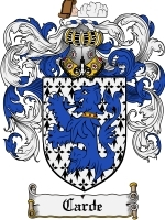 Primary image for Carde Family Crest / Coat of Arms JPG or PDF Image Download