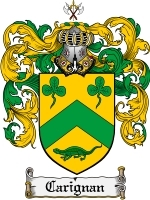 Primary image for Carignan Family Crest / Coat of Arms JPG or PDF Image Download
