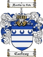 Primary image for Carfray Family Crest / Coat of Arms JPG or PDF Image Download