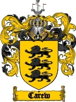 Carew Family Crest / Coat of Arms JPG or PDF Image Download