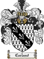 Primary image for Carland Family Crest / Coat of Arms JPG or PDF Image Download