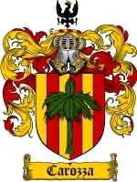 Primary image for Carozza Family Crest / Coat of Arms JPG or PDF Image Download