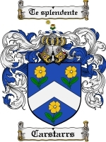 Primary image for Carstarrs Family Crest / Coat of Arms JPG or PDF Image Download