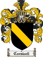 Primary image for Carswell Family Crest / Coat of Arms JPG or PDF Image Download
