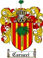 Primary image for Carucci Family Crest / Coat of Arms JPG or PDF Image Download