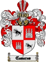 Primary image for Casares Family Crest / Coat of Arms JPG or PDF Image Download