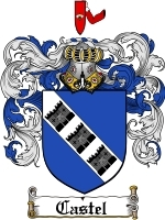 Primary image for Castel Family Crest / Coat of Arms JPG or PDF Image Download