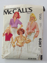 McCalls 6367 Vintage Misses Set of Blouses Size 16 - $2.00