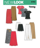 New Look 6762 Blouse, Pants, Skirt  3 lengths  Size XS - XL UNCUT - $2.00