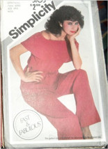Vintage Simplicity 5103 Self Ruffle Sleeveless Top with Elastic Neckline & Waist - $3.00
