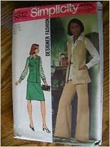 Simplicity 5812, designer fashion  vest, blouse, skirt and pants Sz 12 uncut - $2.00