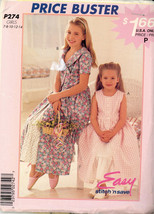 McCalls UNCUT Girls Dress & Petticoat Sewing Pattern #P274 Size 7-14 - $2.00