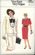 Vintage Vogue Pattern 9485 Misses Top Skirt size 20-24 Very Easy - $2.00
