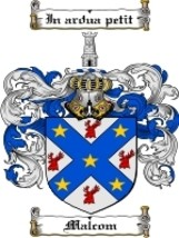 Malcom Family Crest / Coat of Arms JPG or PDF Image Download - $6.99