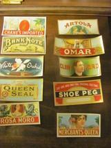 10 outer vintage 2X5 cigar box labels, 1920s, c... - $12.50
