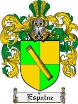 Espaine Family Crest / Coat of Arms JPG or PDF Image Download - $6.99