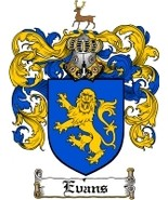 Evans Family Crest / Coat of Arms JPG or PDF Image Download - $6.99