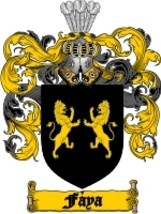 Faya Family Crest / Coat of Arms JPG or PDF Image Download - $6.99