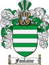 Fontaine Family Crest / Coat of Arms JPG or PDF Image Download - $6.99