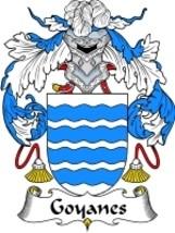 Goyanes Family Crest / Coat of Arms JPG or PDF Image Download - $6.99