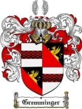 Gremminger Family Crest / Coat of Arms JPG or PDF Image Download - $6.99