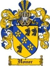 Honer Family Crest / Coat of Arms JPG or PDF Image Download - $6.99