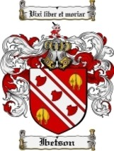 Ibetson Family Crest / Coat of Arms JPG or PDF Image Download - $6.99